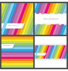 Set of colorful striped seamless backgrounds vector image vector image