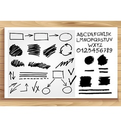 Set of vintage arrows and banners vector image vector image