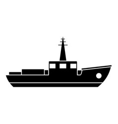 ship fishing icon simple black style vector image