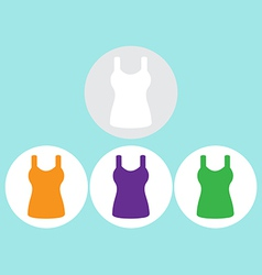 Singlet sleeveless flat icon the circle vector