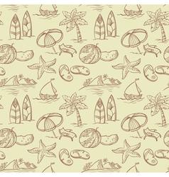 Sketchy summer pattern vector