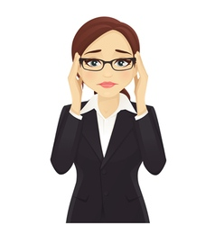 Stressed business woman vector image vector image