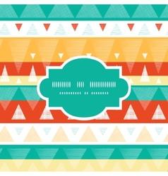 Vibrant ikat stripes frame seamless pattern vector