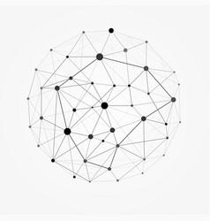 wireframe 3d mesh polygonal sphere network vector image