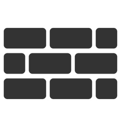 Brick wall flat icon vector