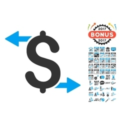 Payouts icon with 2017 year bonus pictograms vector
