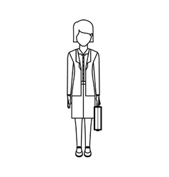 Isolated avatar woman and suitcase design vector