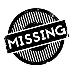 Missing rubber stamp vector