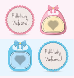 baby showers cars and emblem decorations design vector image