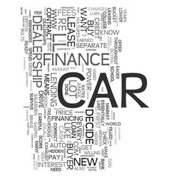 Your first car loan what you need to know text vector