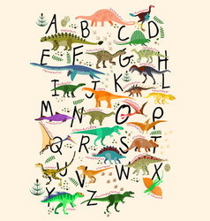Abc dinosaurs vector
