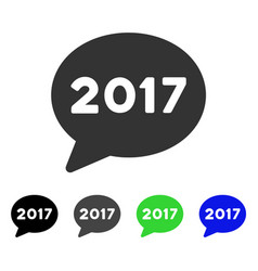2017 message balloon flat icon vector