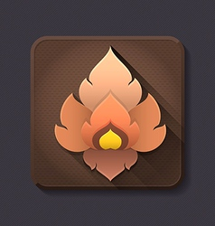 Flat design thai art icon and decoration vector image