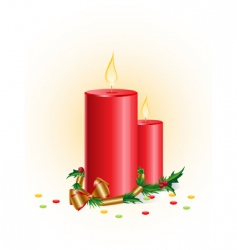 Christmas candle vector image