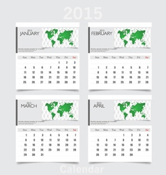 Simple 2015 year calendar january february march vector