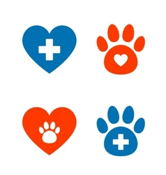 Veterinarian icons set vector