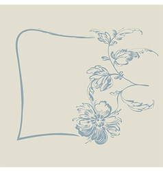 Frame fancy flower vector