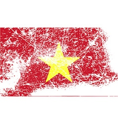 Flag of vietnam with old texture vector