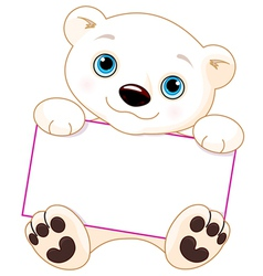 Polar bear sign vector