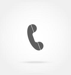 Handset phone icon vector