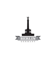 Berlin germany city symbol vector