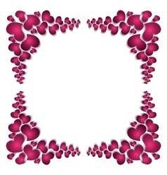 Picture frame silhouette to the valentines day vector