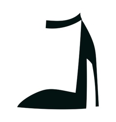 Womens high heels beautiful shoes fashion style vector image