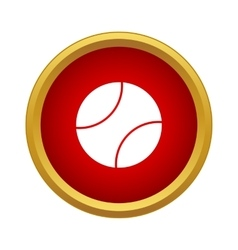 Professional tennis ball icon simple style vector