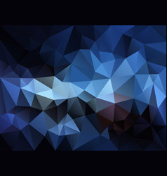 abstract irregular polygon background blue vector image vector image