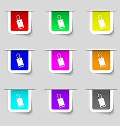 Army chains icon sign set of multicolored modern vector