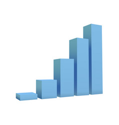 bar chart isolated on white background vector image vector image