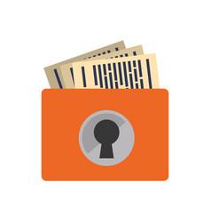 Bin storage documents security vector