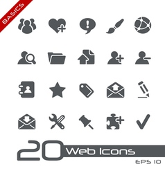 Blog Internet Basics Series vector image vector image