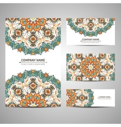 Business colorful card template vector image vector image