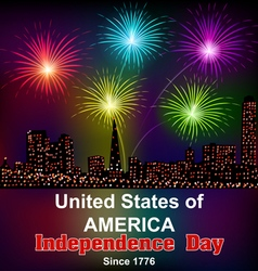 Card for Americas independence day vector image vector image