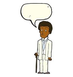 Cartoon unhappy gentleman with speech bubble vector