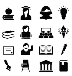 College university icons vector image vector image