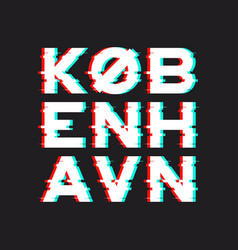 Copenhagen t-shirt and apparel design with noise vector