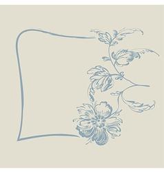 frame fancy flower vector image vector image