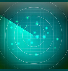 futuristic radar territory with smooth vector image