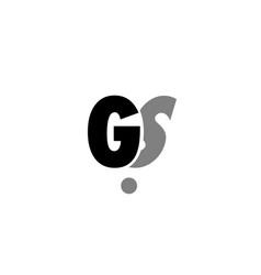 gs g s black white grey alphabet letter logo icon vector image