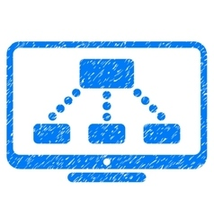 Hierarchy monitor grainy texture icon vector