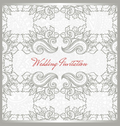 Invitation card floral template vector