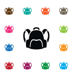 Isolated satchel icon backpack element c vector