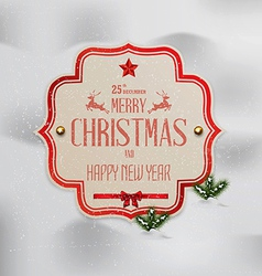 Merry christmas 4 vector image vector image