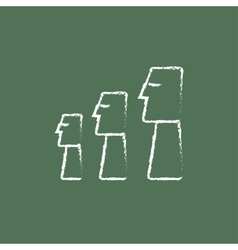 Moai statues on Easter Island icon drawn in chalk vector image vector image