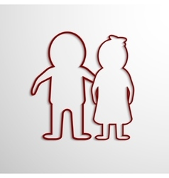 Paper Cut Man and woman vector image vector image