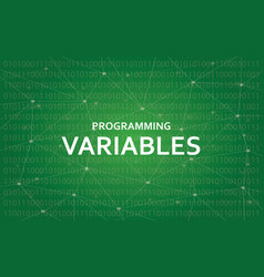 Programming variables white text with vector