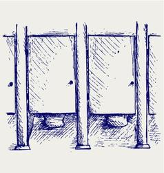Public Toilet vector image vector image