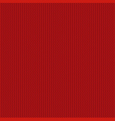 Red knitted background vector
